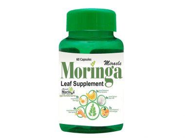 Moringa Leaf Supplement Bottle
